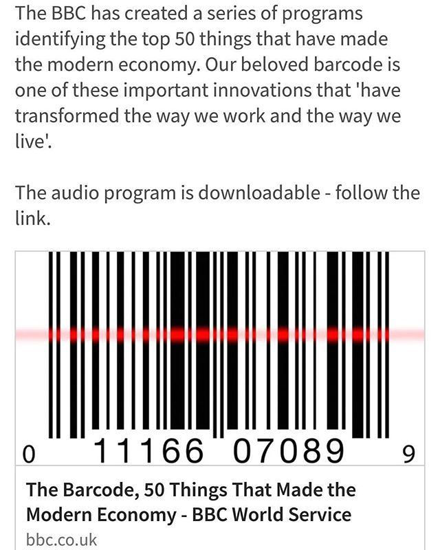 Barcode is an important innovation